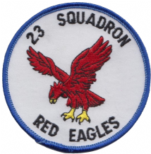 No. 23 Squadron Royal Air Force RAF Red Eagles Round Embroidered Patch